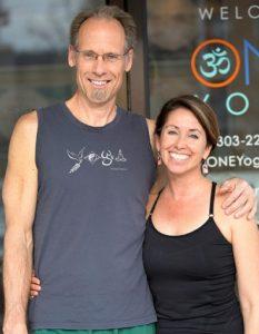 Matt and Karey Goebel, Owners of ONE Yoga South Denver
